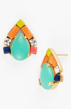 Spring worthy and perfect for Mother's Day - Kate Spade Amalfi Mosaic Stud Earrings.