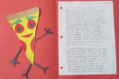 Sub Hub: Gingerbread Man writing activity. Students create their own version of the classic story. This is Pizza Man.