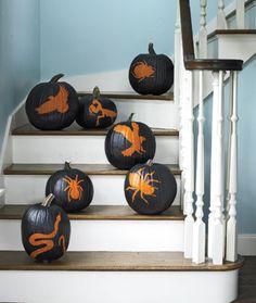 Halloween Craft How-to: Stencil Pumpkins