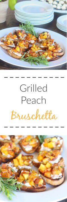 Grilled Peach Brusch
