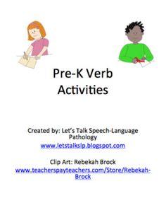 Pre-K Verb Activities