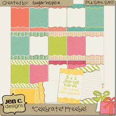 free journaling cards - good for project life