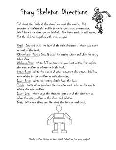 october book report skeleton