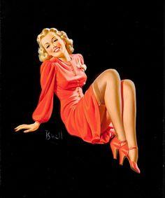 Lady in Red Dress - Al Buell