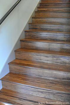 stairs bamboo flooring