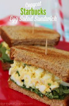 Copycat Starbucks Egg Salad Sandwich