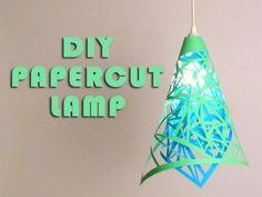 DIY Paper Cut Lamp I love this!!