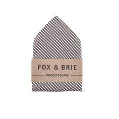Charcoal Stripe (pocket square).