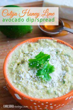 Cotija Honey Lime Avocado Dip/Spread