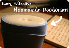 Cheap and easy--homemade deodorant that actually works!
