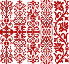 bookmark cross stitched, crossstitch, dst red, cross stitch charts, pretti pattern