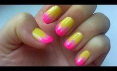 Neon Ombre #lacquer #lacquerous #nails #beauty #fashion