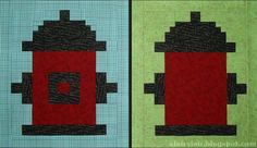 Fire Hydrant Quilt Block