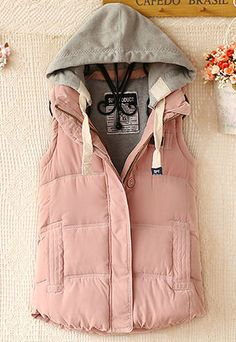 Warm Leisure Hooded Women's Vest