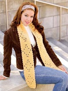 Let's Try Lace #scarf free #crochet pattern