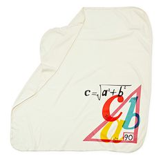 Swaddling blanket for a math geek's baby!