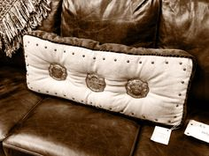 Trophy Buckle pillow- Texas Trio Furniture....