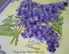 card idea, selma stamp, flower mini, stamp corner, vellum lilac, mini tutori, lilac flower, minis, flowers
