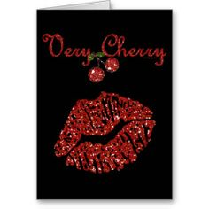 RAB Rockabilly Very Cherry Kiss Greeting Card by Lee Hiller #Photography and Designs