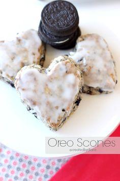 Oreo Scones @createdbydiane more recipes like this at createdby-diane.com