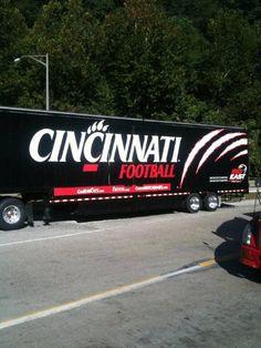 University of Cincinnati Bearcats - equipment transporter for away football games