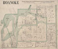 Roanoke Park - 1907 map