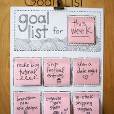 DIY goal list....making this for my family!