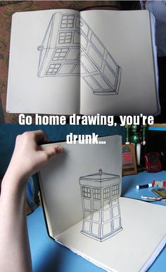 draw something, art, tardis drawing, doctor who, wibbl wobbl, doctors, 3d drawings, awesom, forced perspective