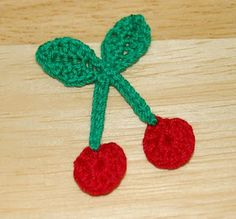 Living the Craft Life: Crochet Cherry Applique