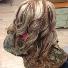 Blonde w cherry brown and copper low lights