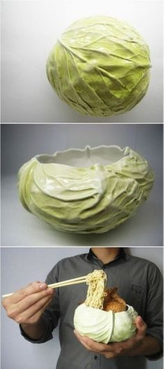 Cabbage-shaped bowl