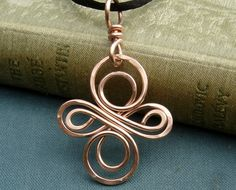 Celtic Knot Cross Copper Pendant  Celtic Knot by nicholasandfelice