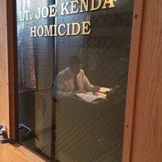 Carl Marino aka #HomicideHunter at work on the 2014 Season!!! YAY