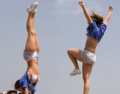 college cheerleader, cheerleading, stunts CHEER m.16.47 from @Kythoni Cheerleading: Stunts board #KyFun