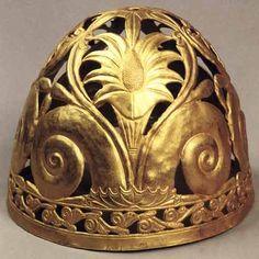 Tresurs - «Golden Helmet Scythian king-priest. Crimea, Ak-Burun, VI century. BC. e. »On Yandex
