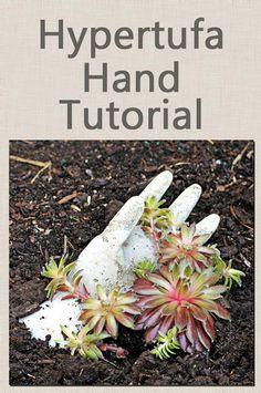 Hypertufa hand planter tutorial - definitely will be making these this summer.  Super idea!