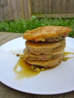 Strawberry Pistachio Pancakes