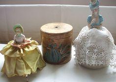 Crinoline ladies by the vintage cottage, via Flickr