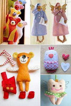Round-up of tutorials and patterns for cute little softies on http://mollymoo.ie/2013/03/handmade-soft-toys/