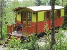 renovated rail car. I'd love to have one in my backyard.