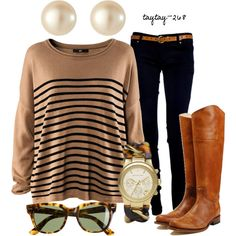 Clothes Casual Outift for teens movies girls women . summer fall spring winter outfit ideas dates school parties Polyvore :) Catalina Christiano