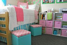 This is a good storage layout for a dorm room.