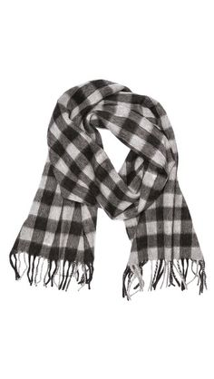 Buffalo plaid scarf.