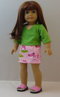 Top and Skirt for American Girl Doll by bestfriendsinfashion, $15.00