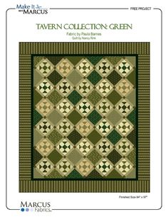 Tavern Collection in Greens Quilt by Marcus Brothers