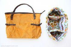 Turn a regular purse into a camera bag