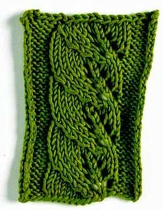 How To Knit A Leaf Pattern : Raised knitting stitches on Pinterest Knit Stitches, Stitches and Knitting ...