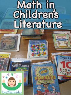 love2learn2day: Math Book Lists TBA...a great list of books for math topics