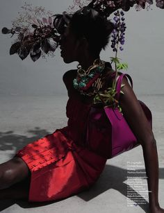 AnOther Magazine A/W 2009 Kinee Douf photographed by Viviane Sassen, Styling by Mattias Karlsson