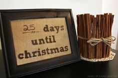 Framed Christmas Countdown - uses dry erase marker to keep tally.
